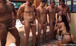 Shayene Samara fodendo com cinco homens dotados